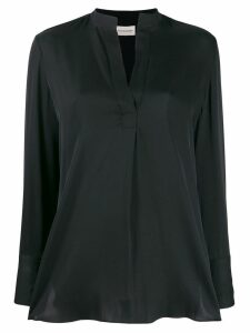 By Malene Birger v-neck flared blouse - Black