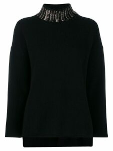 Pierantoniogaspari safety pin embellished jumper - Black