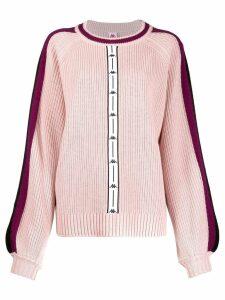 Kappa logo stripe jumper - PINK