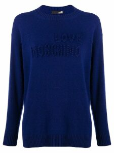 Love Moschino stitched logo jumper - Blue