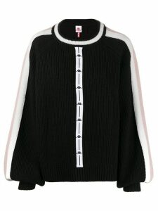 Kappa ribbed knit jumper - Black