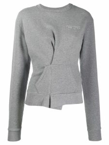UNRAVEL PROJECT wrap detail sweatshirt - Grey