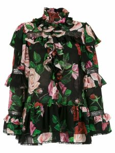 Dolce & Gabbana rose printed blouse - HNX46