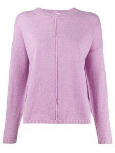 Allude loose-fit crew neck jumper - Pink