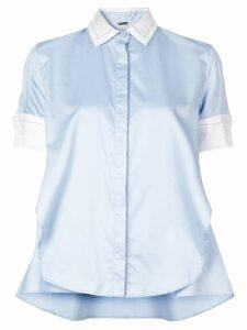 Adam Lippes contrast collar shirt - Blue