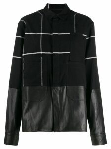 Haider Ackermann checked military shirt - Black
