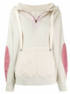 Isabel Marant Étoile Nansyl contrasting panel hoodie - NEUTRALS
