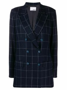 Each X Other checked oversized blazer - Blue