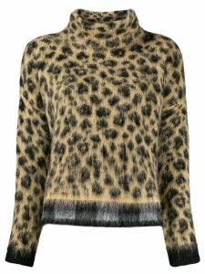 LIU JO loose-fit leopard jumper - NEUTRALS