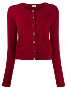 LIU JO embellished slim-fit cardigan - Red