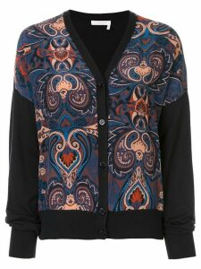 See By Chloé paisley print V-neck cardigan - Black