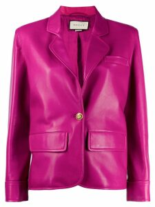 Gucci notched lapel blazer - PINK