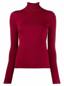 LIU JO fitted turtleneck jumper - Red