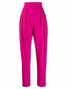 Attico high-waisted tapered trousers - Pink
