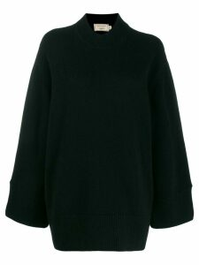 Maison Kitsuné oversized zipped-sides jumper - Black