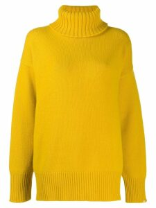 Extreme Cashmere Nº20 oversized roll neck jumper - Yellow