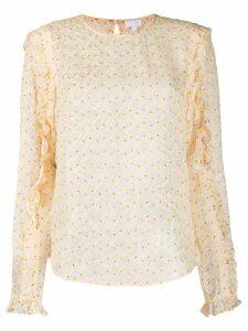 Lala Berlin Kufiya Comet blouse - NEUTRALS