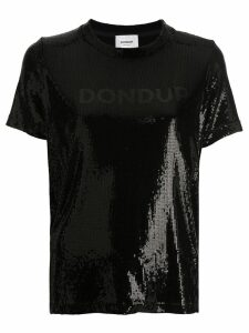 Dondup logo sequin T-shirt - Black