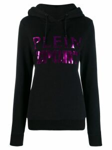 Plein Sport logo printed hoodie - Black