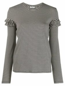 LIU JO striped T-shirt - Blue