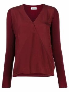 Liu Jo relaxed-fit V-neck blouse - Red