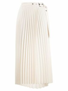 Brunello Cucinelli pleated wrap style skirt - NEUTRALS
