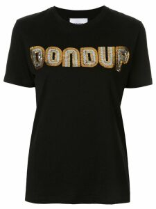 Dondup sequin logo T-shirt - Black