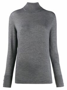 Agnona roll-neck fitted sweater - Grey