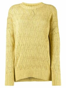 Etro pointelle knitted jumper - Yellow