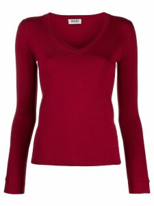 LIU JO fitted V-neck pullover - Red