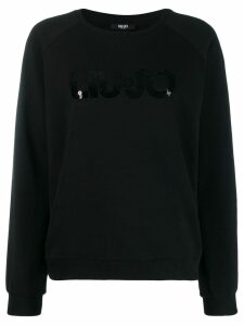 LIU JO sequin logo sweatshirt - Black