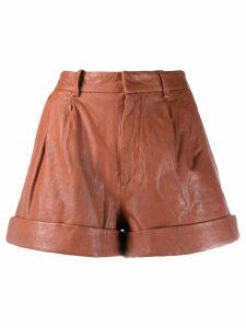 Isabel Marant Étoile Abot leather shorts - PINK