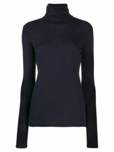 Closed roll neck knit top - Blue
