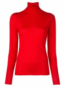 Escada roll-neck fitted sweater - Red