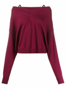 Maison Margiela multi-wear jumper - Red