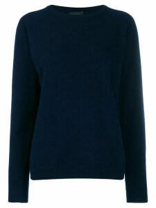 Roberto Collina long sleeve knit jumper - Blue