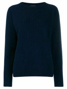 Roberto Collina long sleeve knit jumper - Blue