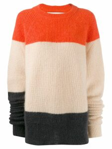 Jil Sander oversized colour-block jumper - ORANGE