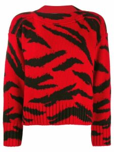 Philosophy Di Lorenzo Serafini animal pattern wool sweater - Red
