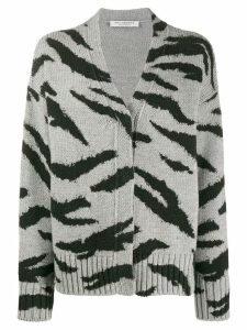 Philosophy Di Lorenzo Serafini animal pattern wool cardigan - Grey