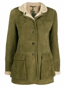 Ermanno Scervino high neck shearling jacket - Green