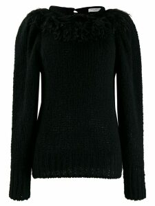 Philosophy Di Lorenzo Serafini fringed knit sweater - Black