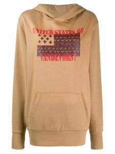A.F.Vandevorst Justice graphic print hoodie - Brown