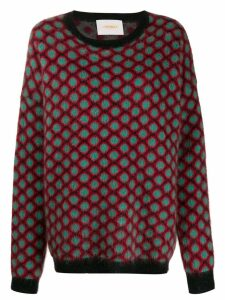 La Doublej oversize crew neck jumper - Red