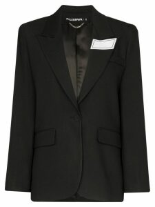 Filles A Papa tailored logo patch blazer - Black