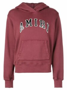 AMIRI College logo embroidered hoodie
