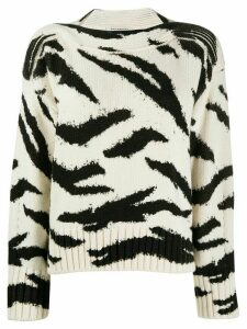 Philosophy Di Lorenzo Serafini animal pattern wool sweater - White