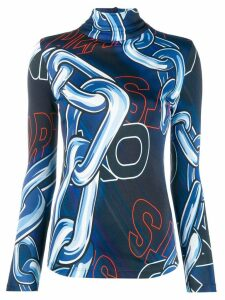 Pinko printed jersey jumper - Blue