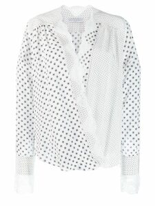 Ermanno Scervino lace hem wrap blouse - White