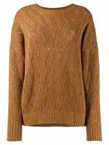 Etro knitted pointelle jumper - Brown